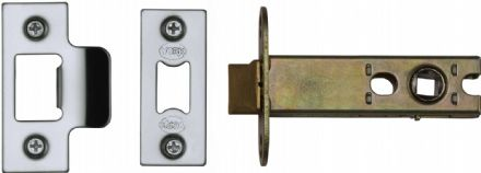 M Marcus York Security YKAL4-PC&PN Architectural Mortice Latch 102mm Polished Chrome/Nickel